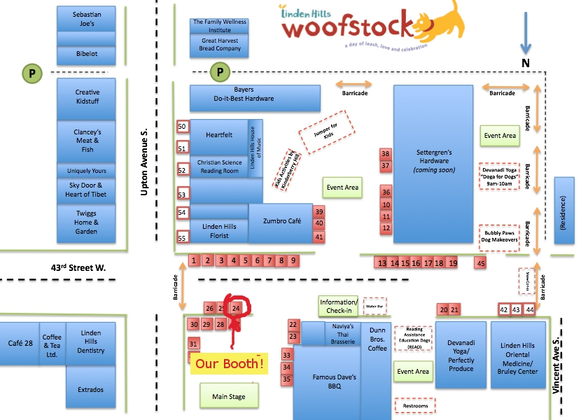 Woofstock - Event Map